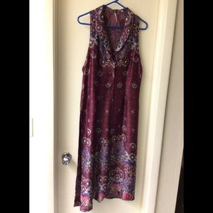 Free People long Duster/Cardigan multicolored